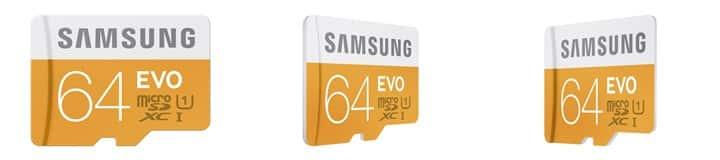Samsung 64 GB EVO Class 10