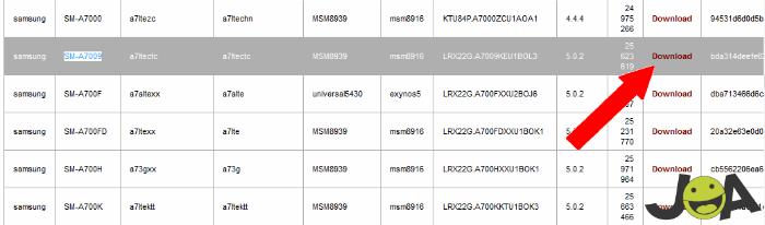 Samsung a7 Download Model
