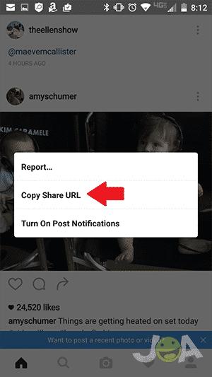 Obtenir l'URL