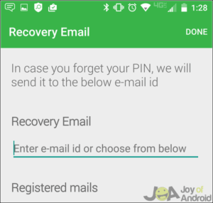 How to hide sms on Android - recovery email setup