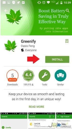 Install-Greenify