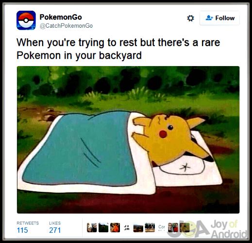 Pokemon GO Sleeping