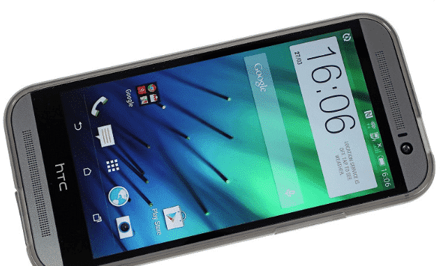 htc one m8 from front