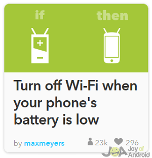 wifi off ifttt battery