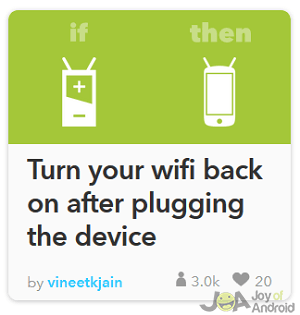 wifi on ifttt battery