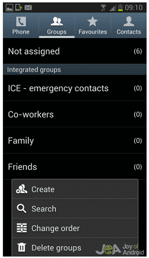 groups contacts