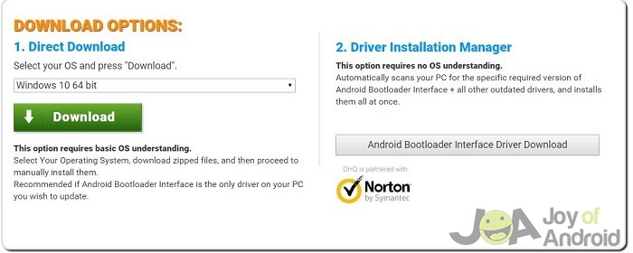Android bootloader interface driver installer | Android