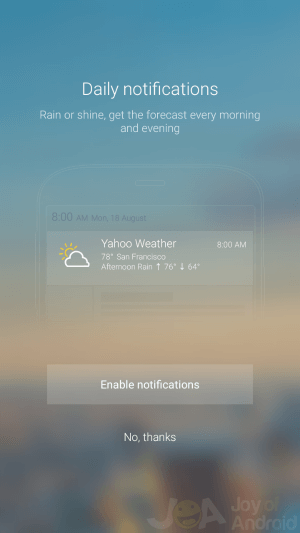 yahoo weather app for android free download