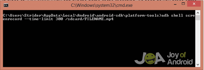 cmd-android-screen-record