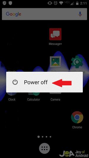 power off