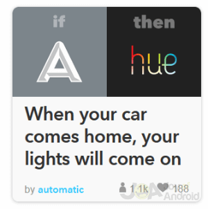 Automatic IFTTT Home