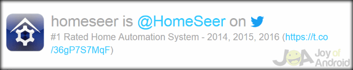 Homeseer IFTTT Home