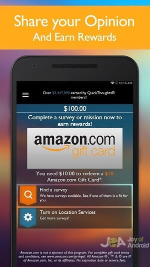 quick rewards money android