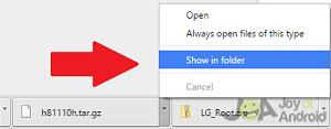 show folder