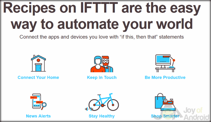 Uses IFTTT Home