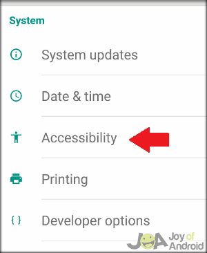 Accessibility Settings