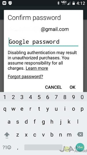 google-password