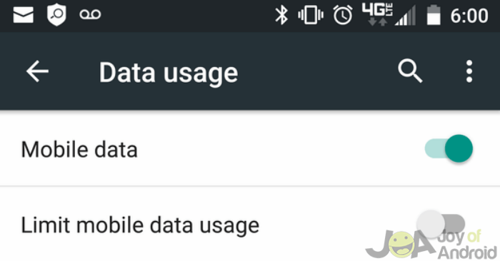 how to allow app updates on mobile data android