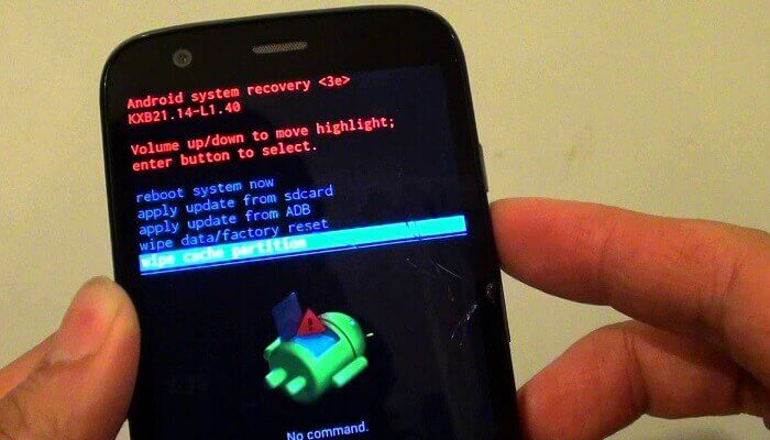 clear cache on Android by wiping cache partition in recovery mode
