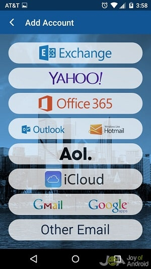 blue mail conversion android email