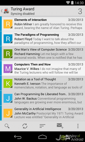 k9 open source android email