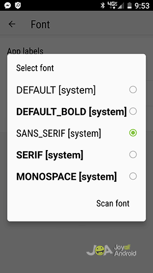 select-font