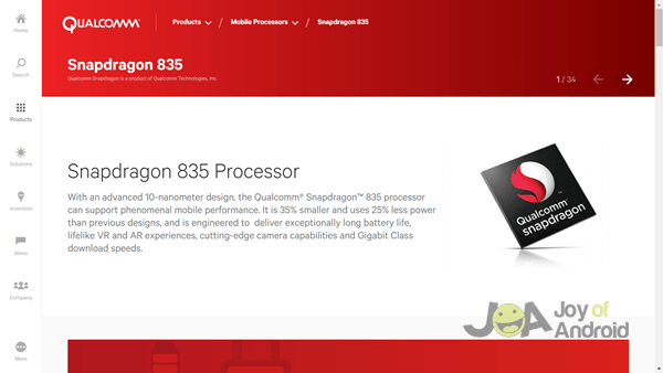 1. QUALCOMM Snapdragon 835