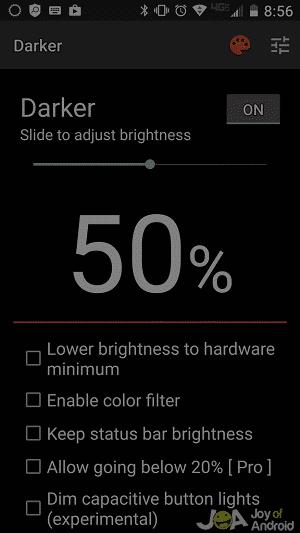 darker filter