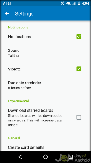 Trello Android Note Taking