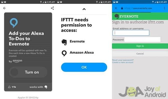 7. Alexa To-Dos to Evernote