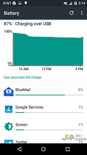 bluemail battery gmail vs inbox