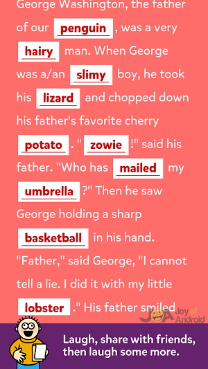 mad libs google home