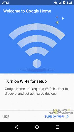 wifi google home