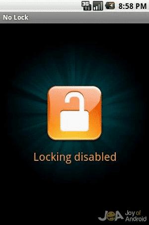 Locking Disabled