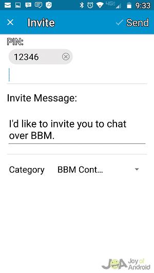 Send PIN