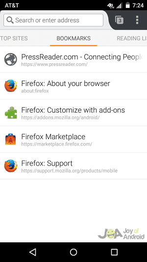 bookmarks firefox alternate browsers