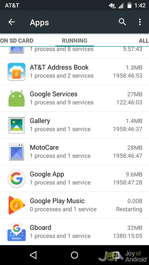 system2 ram usage