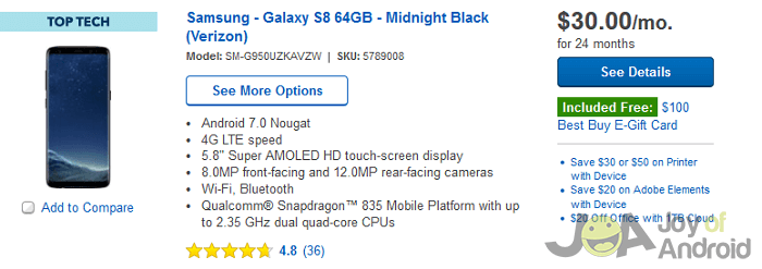 best buy s8 offers