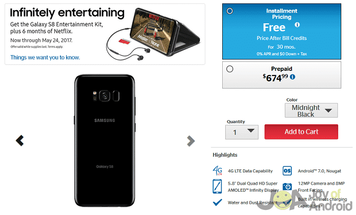 us cellular s8 offers