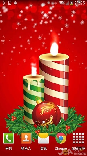 candles christmas wallpapers - Live Christmas Wallpapers Free