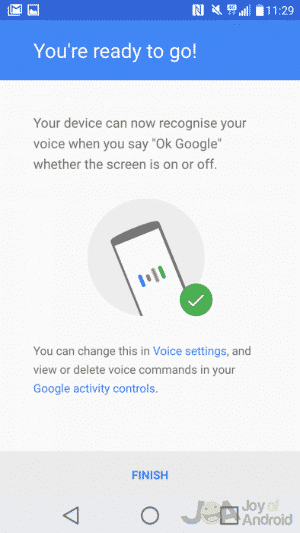 Setup OK Google Song