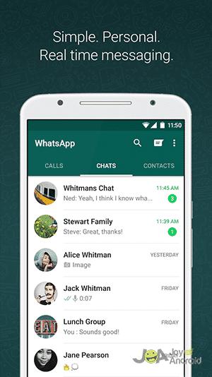 Internet texting app