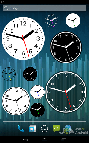 10 Best Analog Clock Widgets Apps For Android - JoyofAndroid com