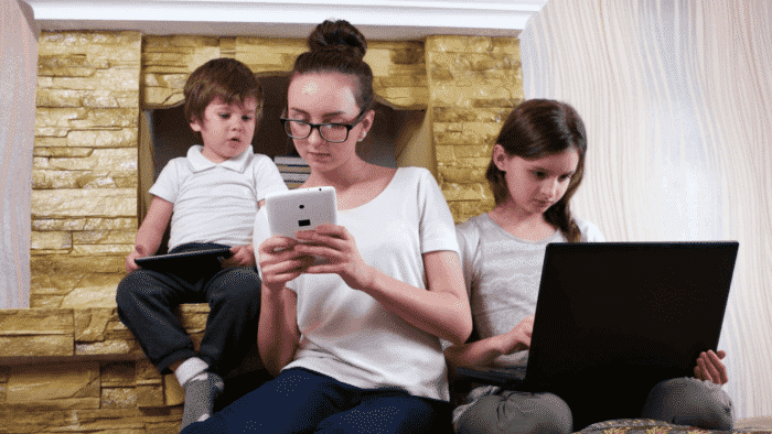 Kids on mobile devices