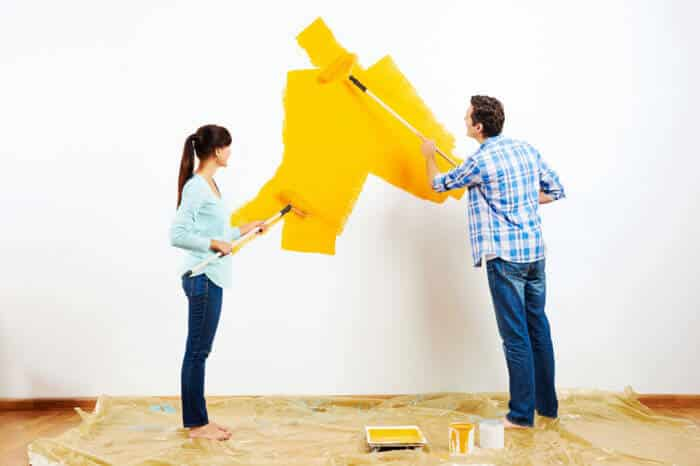 Painting Wall Yellow
