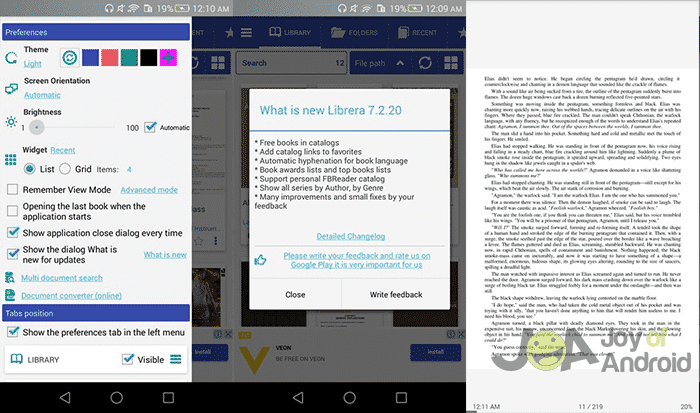pdf reader with night mode for android