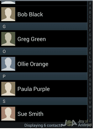 Contacts Group