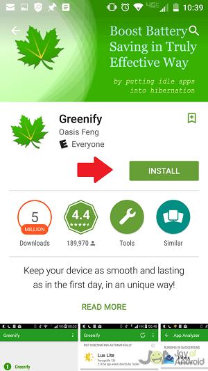 Install Greenify