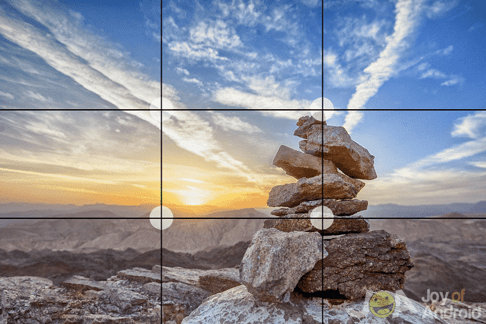 photo using rule of thirds