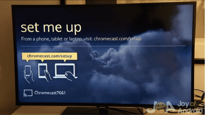 Setting up chromecast